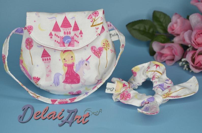 Kids hand bag set girl bag scrunchie scrunchie set bag image 1