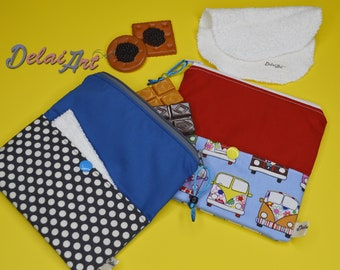 """6x6"""" Snack Bag with pocket and napkin towel."""