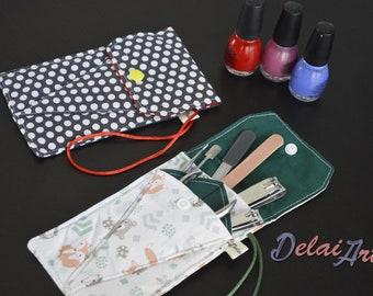 Manicure bag | compact manicure bag | crochet needles wallet