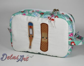 Pharmacy pouch (Large) with 3 pockets, first aid bag.