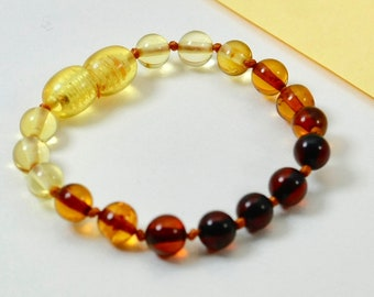 Lot of 10 Round shapes amber bracelets/anklets and stylish accessories. Perfect gift for your baby. Pure amber bracelets