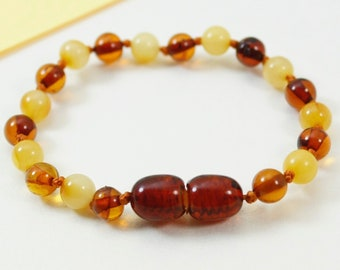 Lot of 10 premium quality  Round shape amber bracelets/anklets and stylish accessories. Perfect gift for your baby. Pure amber bracelets