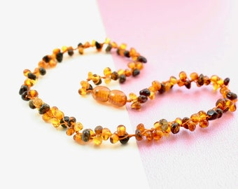 Beautiful Amber teething necklace. Amber Necklace for little girl. Amber healing necklace. High polished amber.