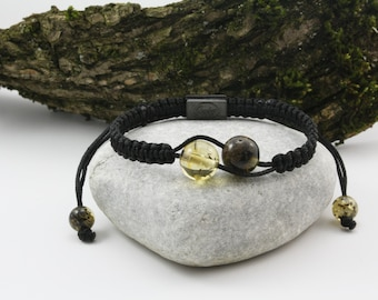 Fashionable Black Colour Macrame Shamballa Bracelet Light and Dark Green Round Beads
