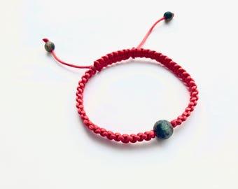 Red Macrame Shamballa Kabbalah Bracelet, positive energy bracelet, fashionable bracelet, grear for women and men