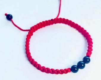 Red Macrame Shamballa Kabbalah Bracelet