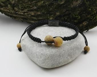 Beautiful Black Colour Shamballa Bracelet  and Unpolished Marble Round Beads
