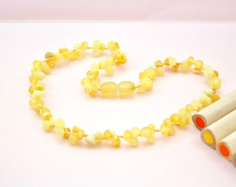 Beautiful Amber teething necklace. Amber Necklace for little girl. Amber healing necklace. High unpolished amber necklace.