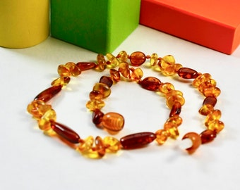 Beautiful Amber teething necklace. Amber Necklace for little girl or little boy. Amber healing necklace. High polished amber necklace.