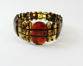 Charm Baltic Amber Bracelet. Pure Baltic Amber Bracelet. Genuine Baltic Amber Bracelet.