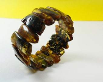 Baltic amber green amber bracelet. Pure Baltic. Amber Bracelets. Unique colours design. Genuine Baltic Amber Bracelet.