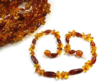 10 Amber teething necklaces. Amber Necklace for little girls or little boys. Amber healing  necklaces. High polished amber necklaces