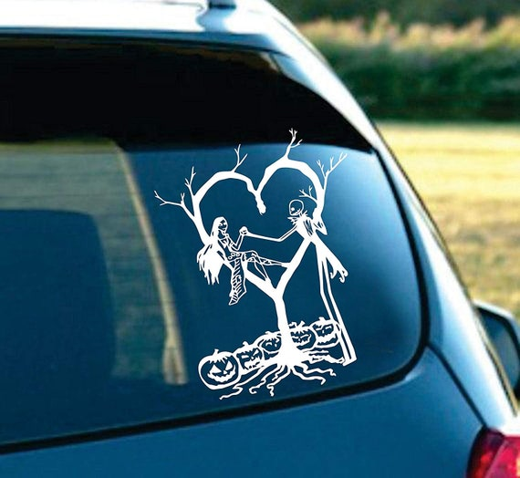 Jack Nightmare Before Christmas Car or Truck Window Laptop Decal Sticker