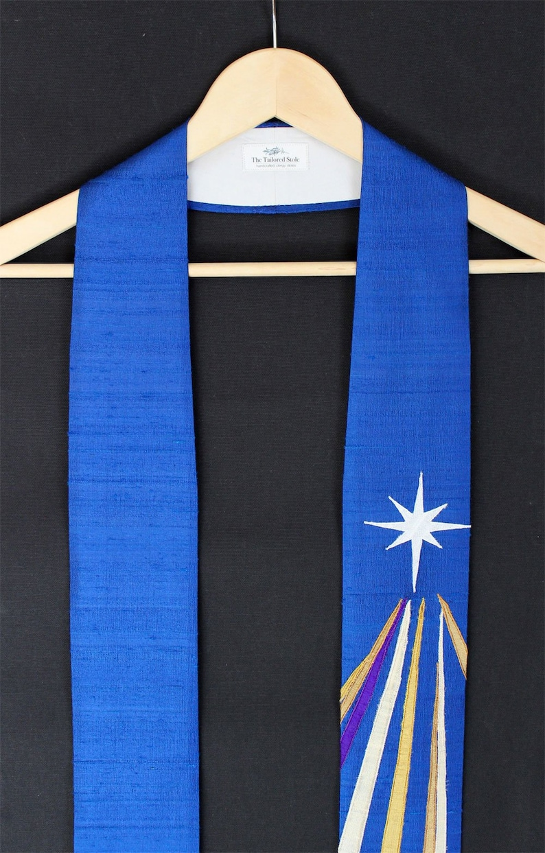 New The Pavo Advent Clergy Stole In Blue Or Purple From The Constellations Collection