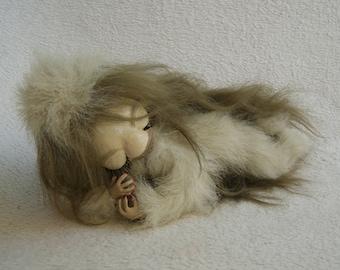 interior mobile doll, sleeping girl