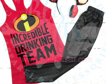 Incredibles shirt COUPLES Food And Wine Shirt, GROUP, Drinking Shirt, Food And Wine Shirt, Disney Drinking, Epcot, Plus Size, Curvy, Tank