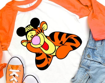 0b5c7be09359c Tigger Shirt Winnie the pooh shirt Shirt Disney Women s T-Shirt Disney  Shirt Disney Mother Daughter Matching Plus Size