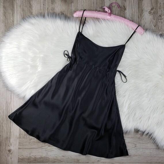 Y2K Victoria's Secret black silk slip dress NWT SZ