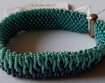 Waterfall Beaded Bracelet in Blue and Teal
