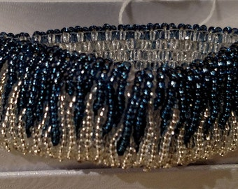 Super Waterfall Beaded Bracelet in Blue and Silver