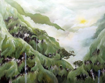 A Land in the Sky - Landscape Painting