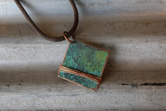 Copper Necklace Recycled Jewelry Handmade Copper Jewelry Etsy