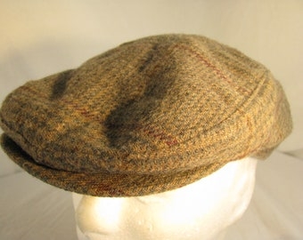 67e663ad TheWorld's Best 100% Wool Newsboy Cabbie Hat, Size Large