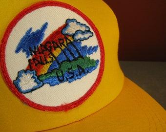 0d325f8653821e Classic 1980's Niagara Falls USA Hat With Multi-Color Patch, Nylon Mesh &  Adjustable Snapback. Made in Korea