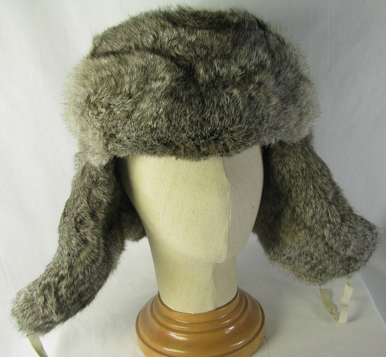 Extra Large Rabbit Fur trapper Hat with Quilted Interior No image 0