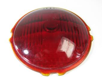 Vintage Red Glass Brake Lamp, LS 371