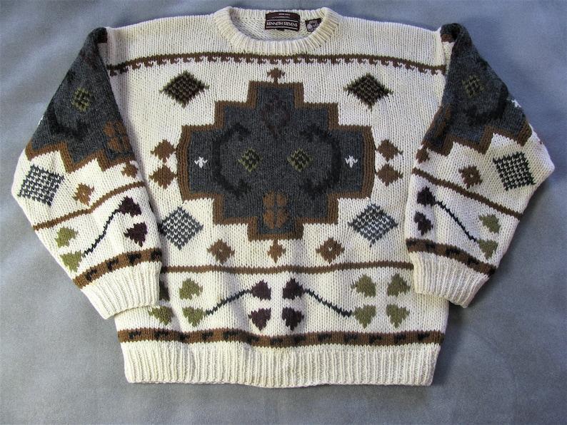 Vintage Kenneth Stevens Men's HandKnit Shetland Wool image 0