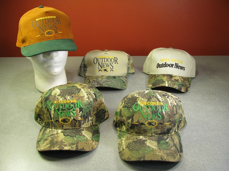 8a6b6a5746a 5 Camo Wisconsin Outdoor News Camo Hats and a Cabela s