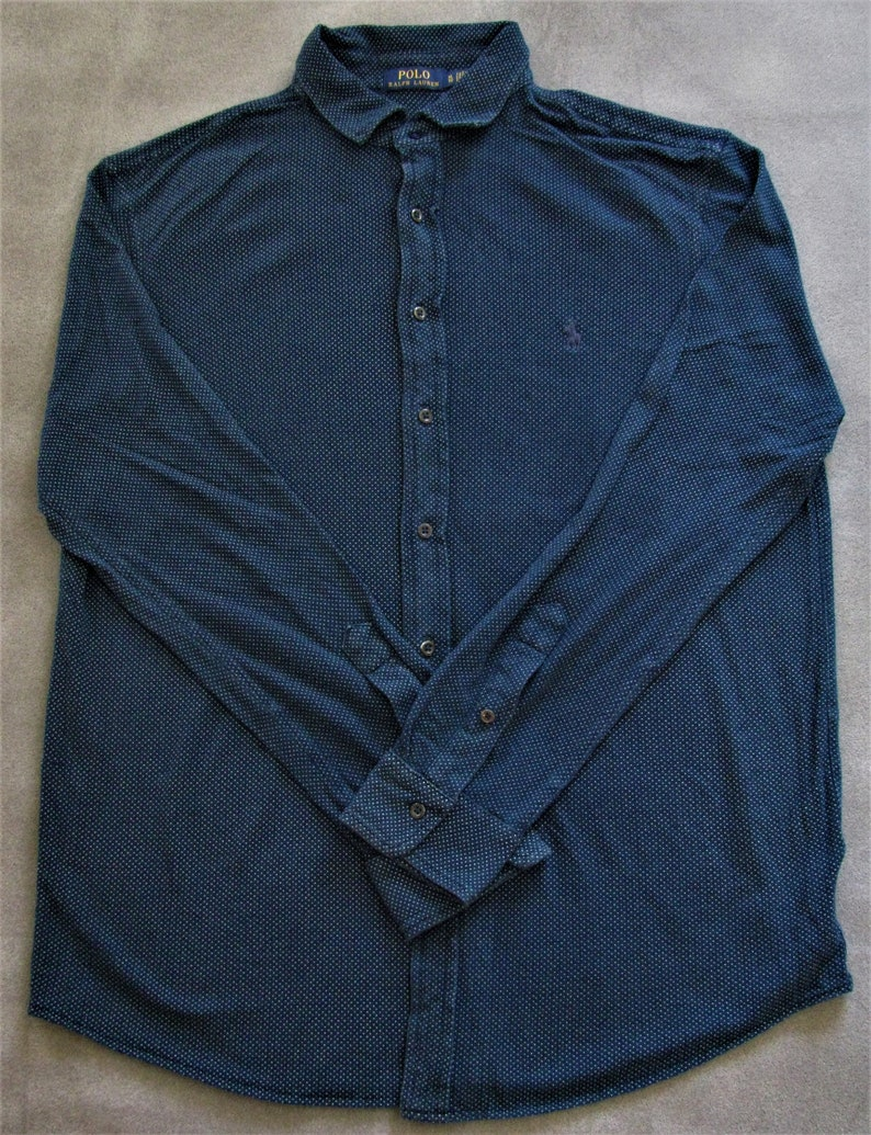 Polo Ralph Lauren Men's Blue Button Shirt Size XL image 0