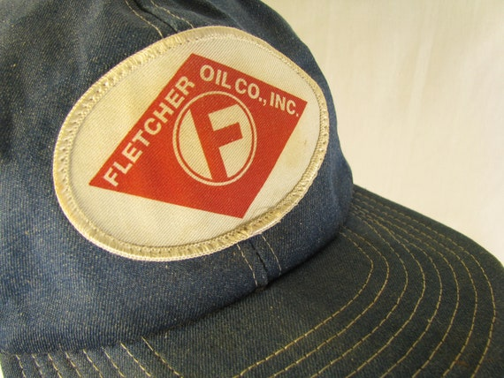 Fletcher Oil Company Vintage Denim Trucker Hat