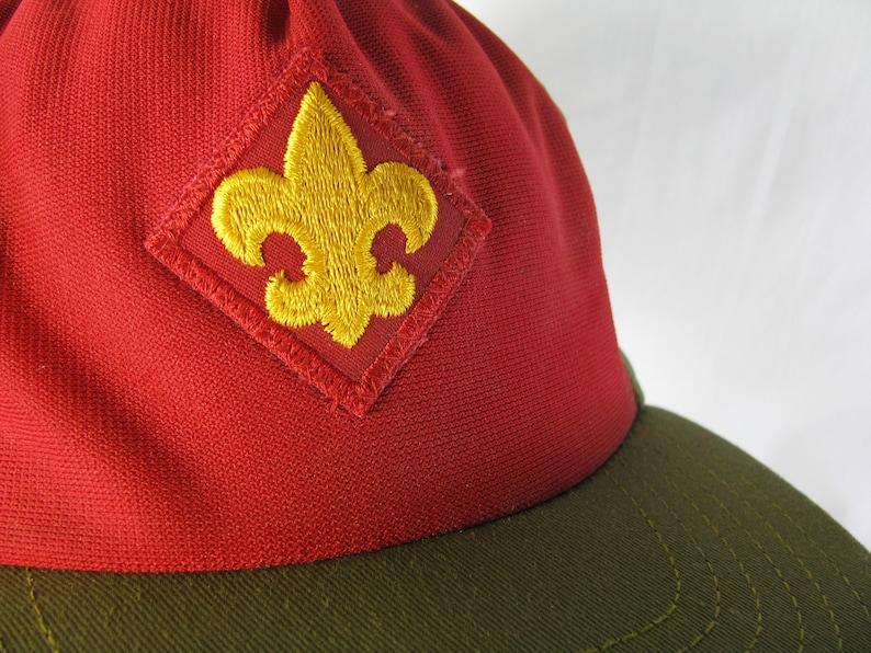 Vintage Boy Scouts of America Hat with Stitched Fleur De Lis image 0