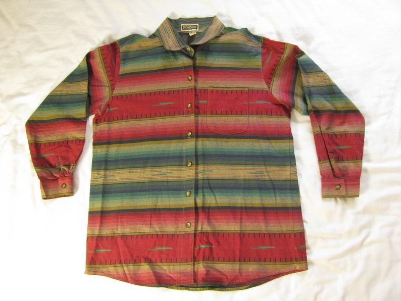 Men's Large Vintage Button Up Long Sleeve Shirt by Gotcha image 0