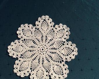 Hand crocheted Doily
