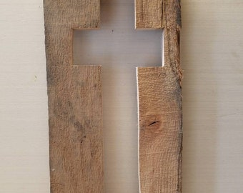 Cross cut from old barn wood
