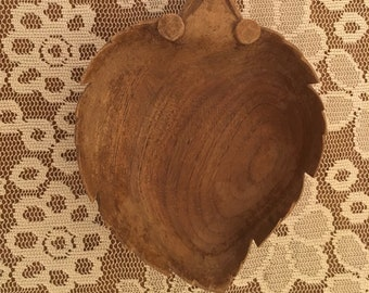 Vintage Wooden Leaf bowl