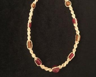 Boho Hemp Choker Necklace