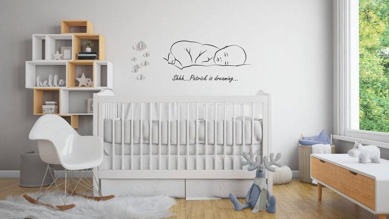 Kinderzimmer Wandtattoo. Kindergarten Aufkleber Name. Baby | Etsy