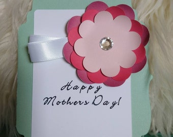 """Happy Mother's Day Greeting card, 5x7"""" Handmade Greeting Card"""