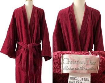 ba7c9fe82c Vintage men s cotton robe by Christian Dior