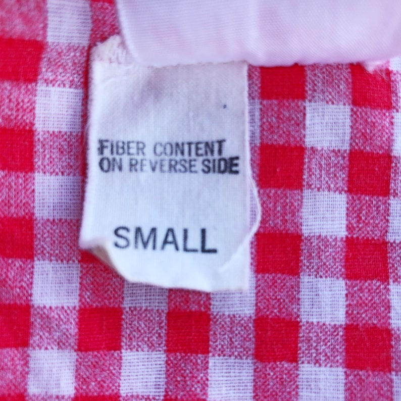 red gingham detail Vintage housecoat size smallmedium zip front casual summer dress 1970/'s robe or loungewear