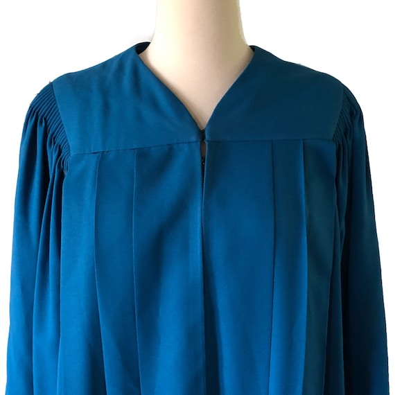 Vintage graduation gown, choir robe, blue, angel … - image 6