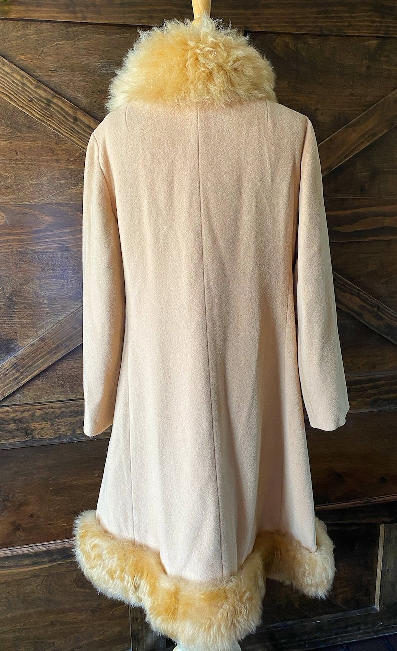 Vintage winter coat vintage boho outerwear fur trim princess coat
