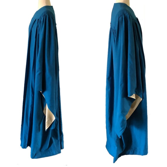 Vintage graduation gown, choir robe, blue, angel … - image 2