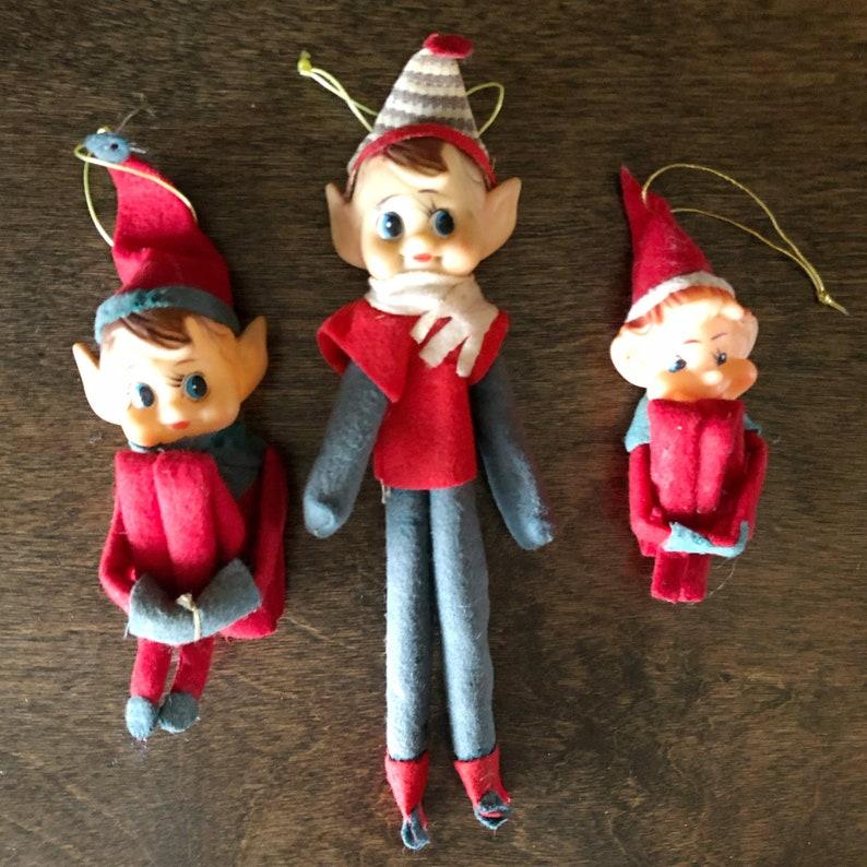 The Christmas Tree 1991.Christmas Current 1991 Now Felt Elf Figure Knee Hugger