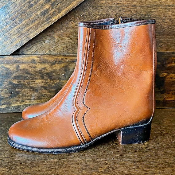 Vintage men's Chelsea boots, brown, 1960's mod boo