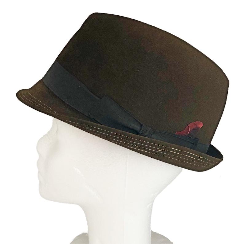 e7b8b5f504da3 Vintage men s fedora 1950 s menswear black olive